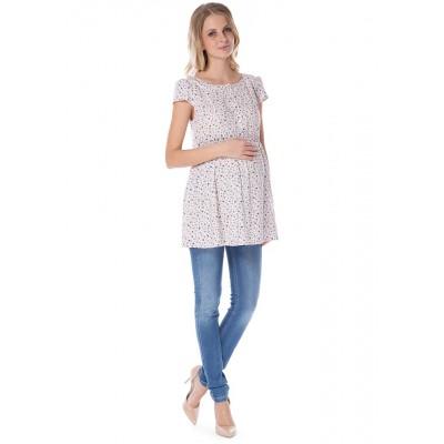 """Блуза """"Тамина""""бежевая для беременных и кормящих"""