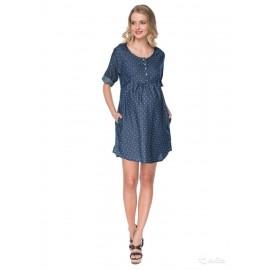 """Платье """"Седа"""" синее в точку для беременных и кормящих"""