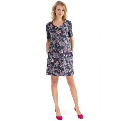 """Платье """"Изида"""" т.синее для беременных и кормящих"""