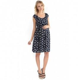 """Платье """"Павлина"""" синее с ромашками для беременных и кормящих"""