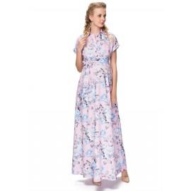 """Платье """"Аламанни"""" розовое с цветами для беременных и кормящих"""