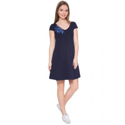 """Платье """"Вербена"""" для беременных, т-синий"""