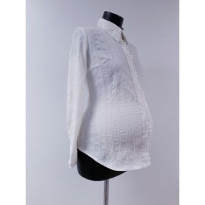 Офисная рубашка для беременных молочная