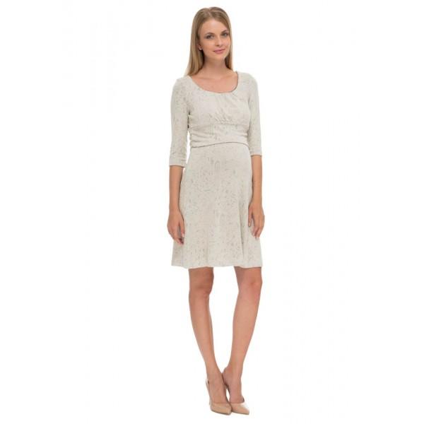 """Платье """"Вирджиния"""" молочное для беременных и кормящих"""