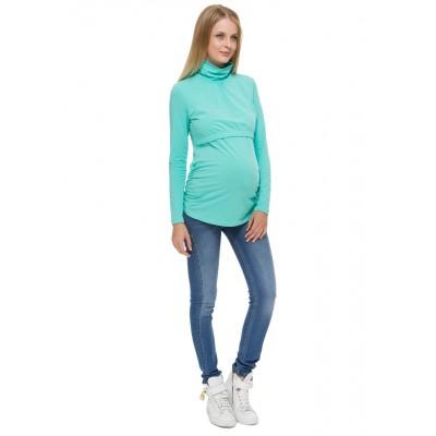 """Водолазка """"Гламур"""" мятная для беременных и кормящих мам"""