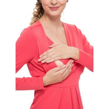 """Платье """"Жасмин""""  коралл для беременных и кормящих"""