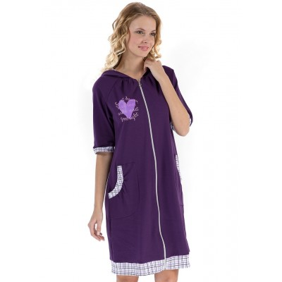 """Халат """"Адель"""" фиолет для беременных и кормящих"""