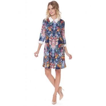 """Платье """"Ариэнна"""" изумрудные цветы для беременных"""