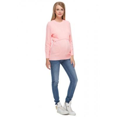 """Джемпер """"Ирэн"""" розовый для беременных и кормящих"""