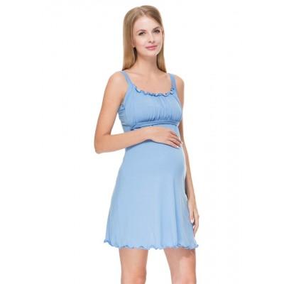 """Ночная сорочка """"Ливия"""" голубая"""