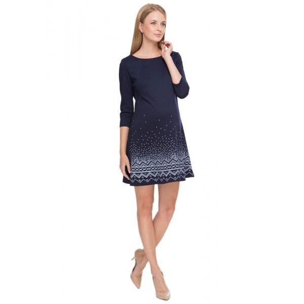 """Платье """"Лесли"""" синее  для беременных и кормящих"""