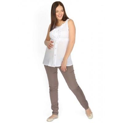 """Блуза """"Рада""""белая для беременных и кормящих"""