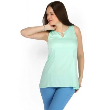 """Блуза """"Мая"""" мятная для беременных и кормящих"""