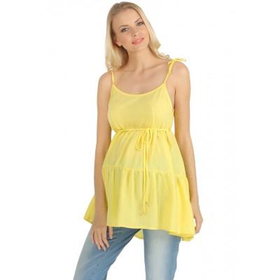"Блуза-топ ""Анюта"" Желтая для беременных"