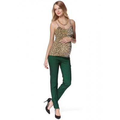 """Брюки джинсовые """"Вернер"""" зеленые для беременных"""