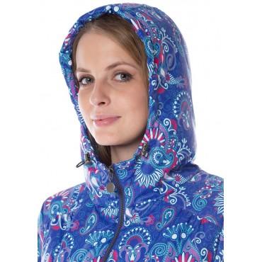 """Куртка демис. 3в1 """"Бритни"""" Пейсли на синем для беременных и слингоношения"""