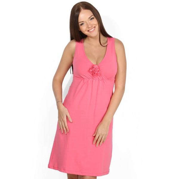 """Ночная сорочка """"Калифорния"""" розовая для беременных и кормящих"""