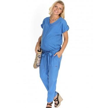 """Комбинезон """"Нелли"""" голубой для беременных и кормящих"""