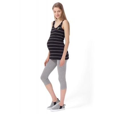 """Леггинсы """"Стайл"""" Серый меланж для беременных"""