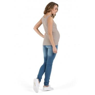 """Майка """"МХ08"""" Бежевая для беременных и кормящих"""