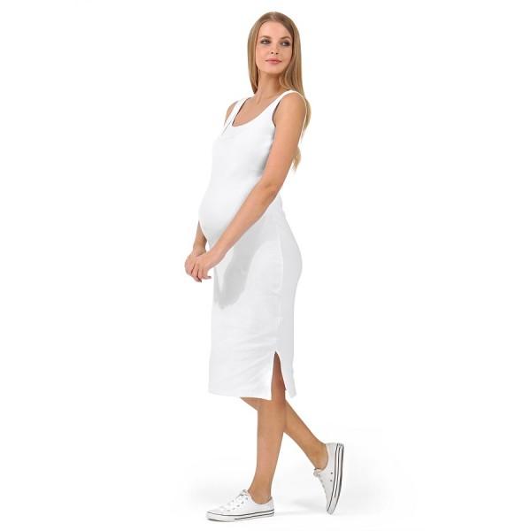 """Платье """"Кашкорсе"""" Белое для беремкормл."""