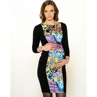 """Платье """"Изабель"""" с атласной вставкой для беременных и кормящих"""