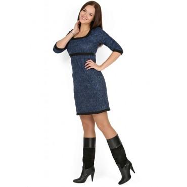 """Платье """"Хизер"""" Синее с орнаментом для беременных и кормящих"""