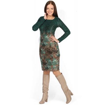 """Платье """"Анжелика"""" Зеленые узоры для кормящих"""