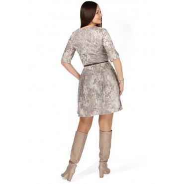 """Платье """"Анжелина"""" бежевое кружево для кормящих"""