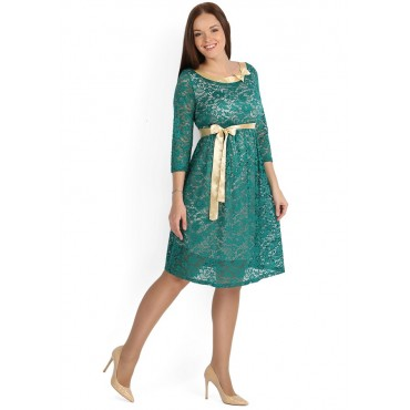 """Платье """"Антония"""" зеленый гипюр для беременных"""