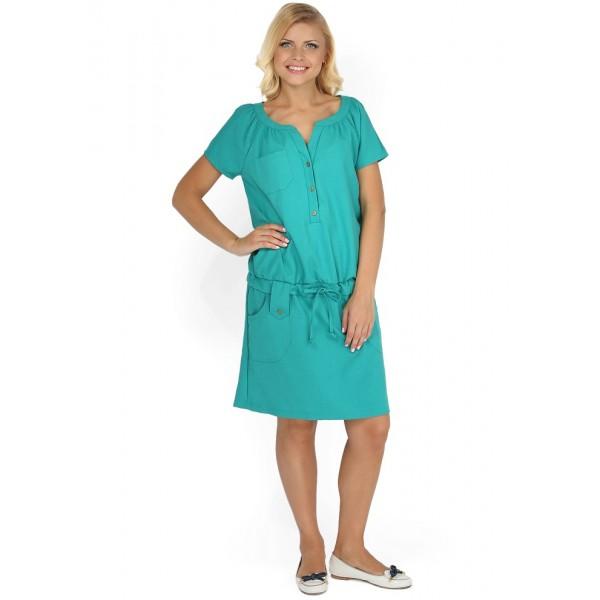 Платье полина изумрудное для беременных и кормящих 88