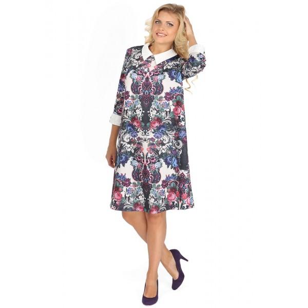 """Платье """"Ариэнна"""" фиолетовые цветы для беременных"""