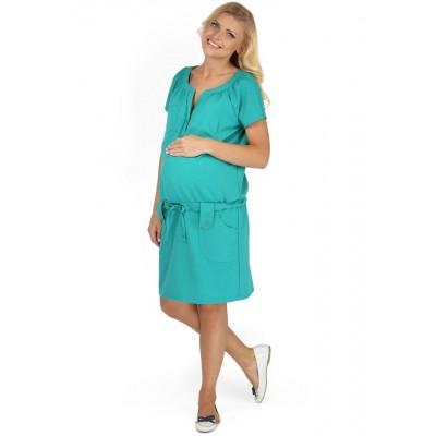 """Платье """"Трейси"""" изумруд для беременных и кормящих мам"""