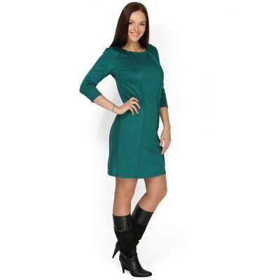 """Платье """"Бэтти"""" зеленое для кормящих"""