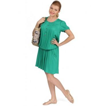 """Платье """"Алексия"""" зеленое для беременных и кормящих мам"""