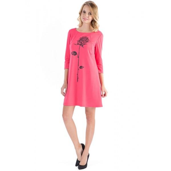 """Платье """"Лесли"""" коралл для беременных и кормящих"""