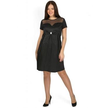 """Платье """"Джульетта"""" черное с бантом для беременных"""