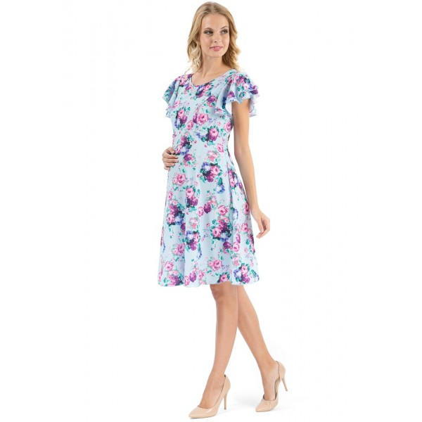 """Платье """"Амили"""" голубое для беременных и кормящих"""