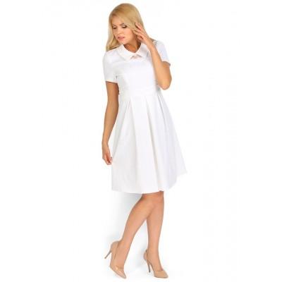 """Платье """"Таира"""" белое для беременных и кормящих"""
