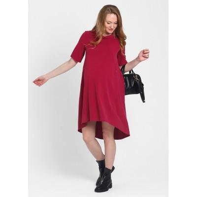 """Платье """"Хайден"""" Малиновое для беременных и кормящих"""