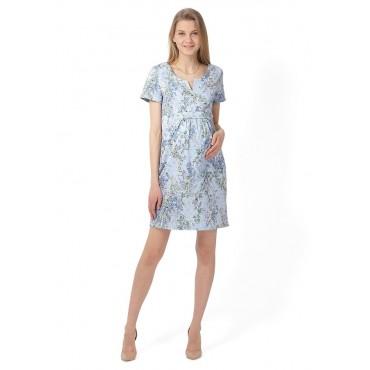 """Платье """"Азалия"""" Голубое для беременных и кормящих"""