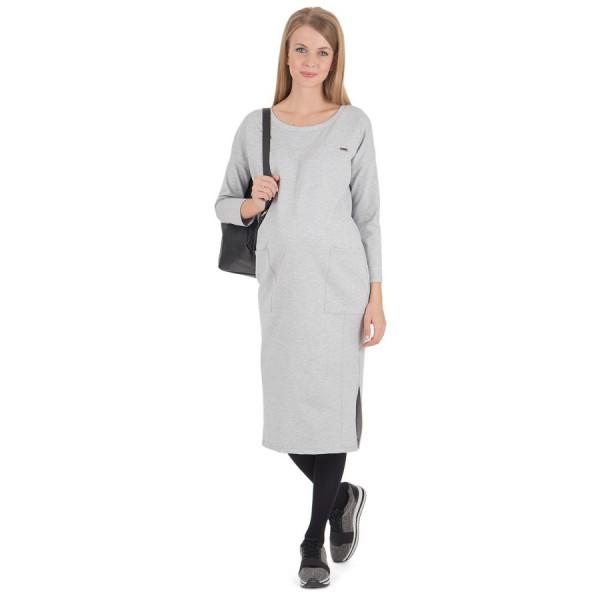 """Платье """"Гильда"""" Серый меланж для беременных"""