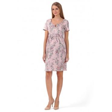 """Платье """"Азалия"""" Нежно-розовое для беременных и кормящих"""