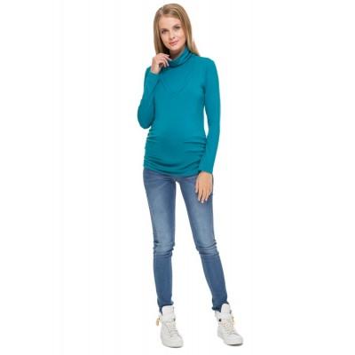 """Водолазка """"Универсал"""" Т.изумруд для беременных и кормящих мам"""