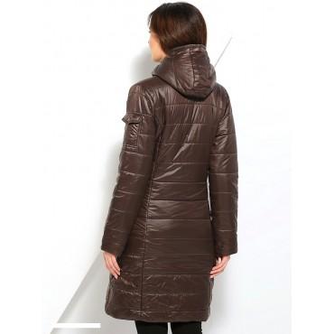 Куртка 2в1 Laura Bruno Бежево-коричневая двусторонняя для беременных