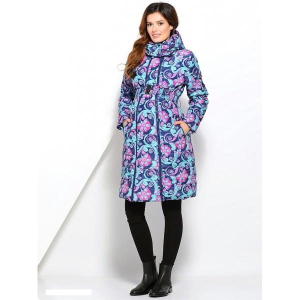Куртка 3в1 Laura Bruno №1 Сине-розовая для беременных и слингоношения