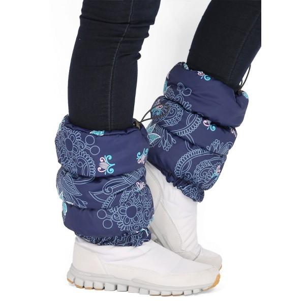 Краги для обуви Синие с цветами