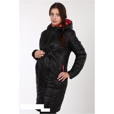 """Демисезонная Куртка """"Коралл/черный"""" для беременных"""