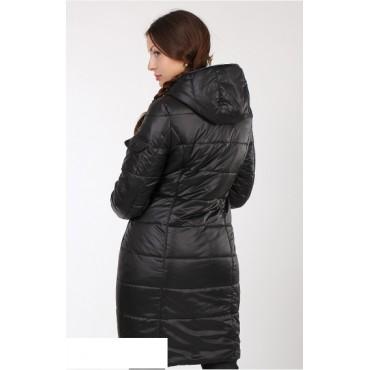 """Демисезонная Куртка """"Мята/черный"""" для беременных"""