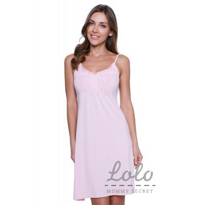 """Ночная сорочка """"Nd001.10"""" нежно-розовая для беременных и кормящих"""